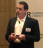 Dan DeFelippi speaking at fraud conference